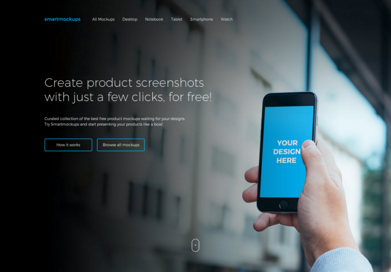 Smartmockups – Create product screenshots with just a few clicks, for free