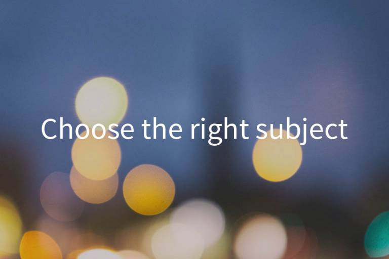 Choose the right subject