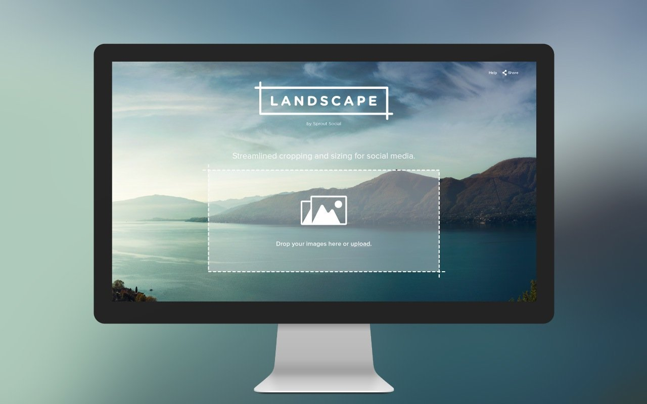 Landscape by Sprout Social - n interactive tool for social media image resizing