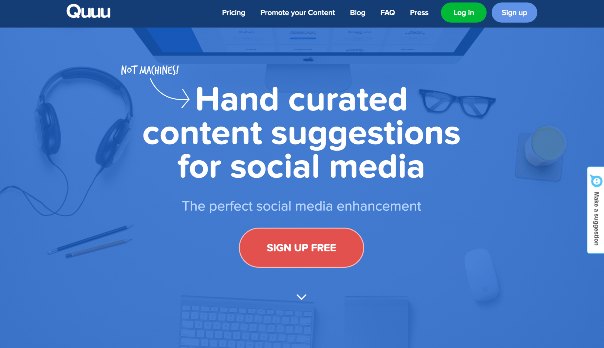 Quuu – Hand curated content suggestions for social media