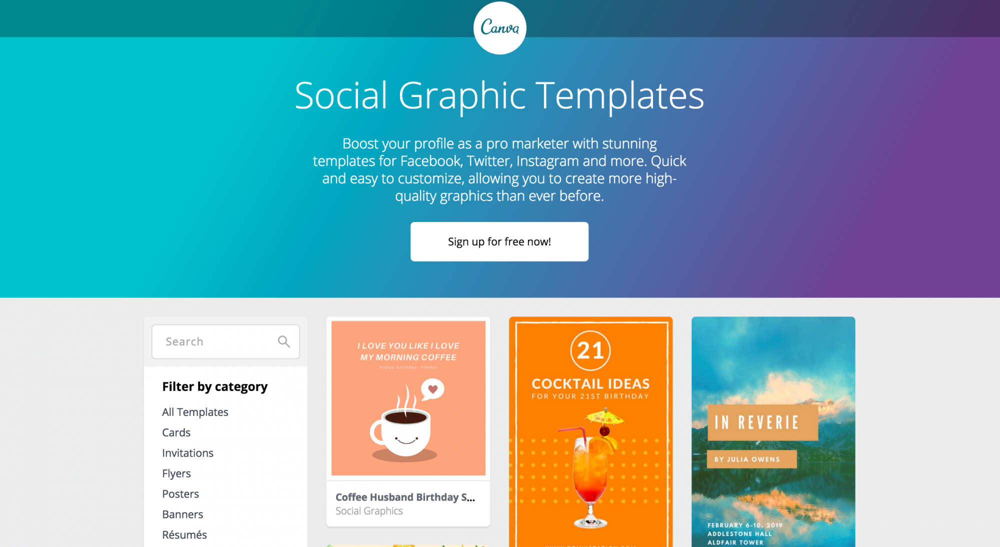 Social Graphic Templates by Canva