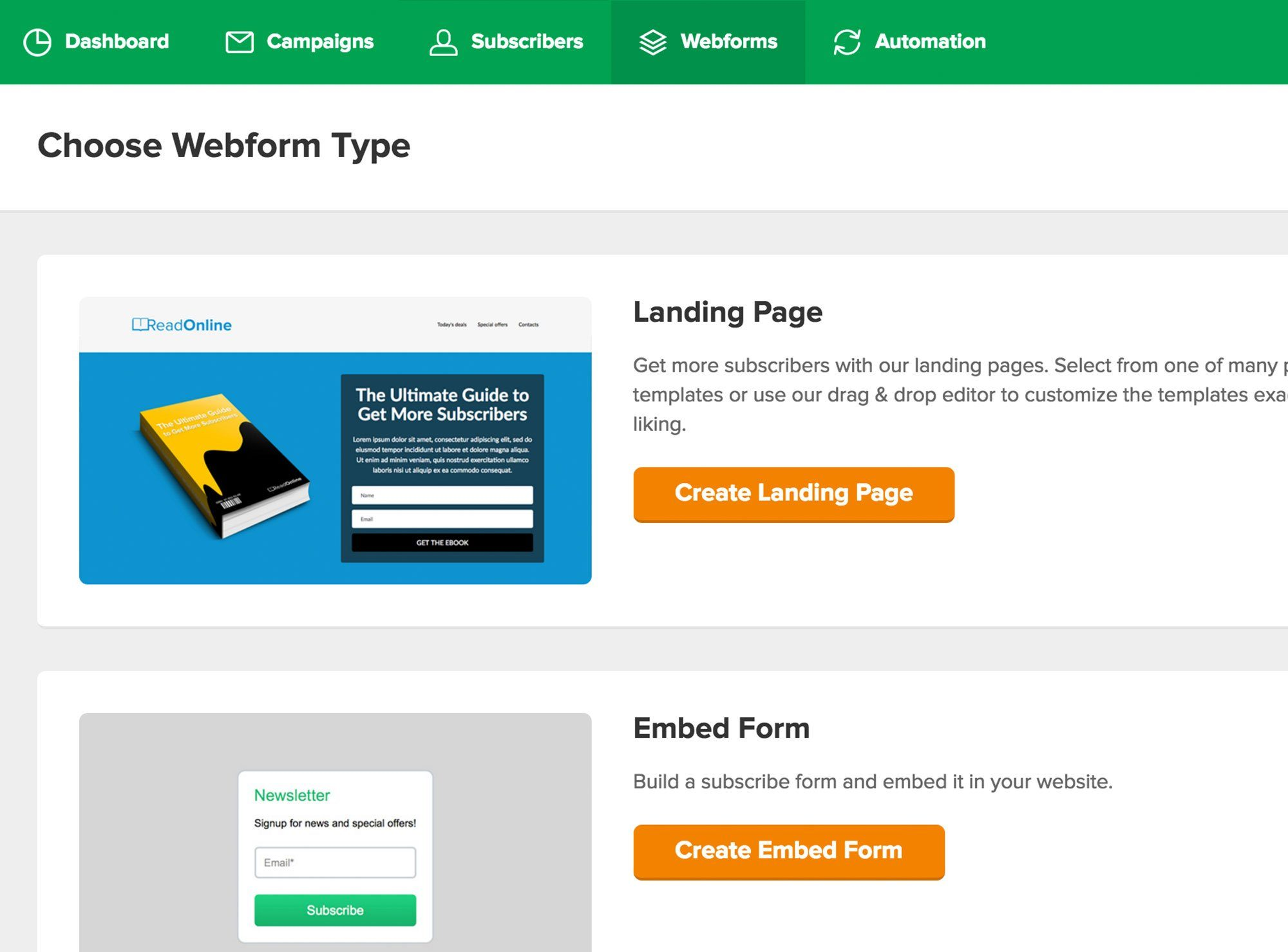 Building a Landing Page