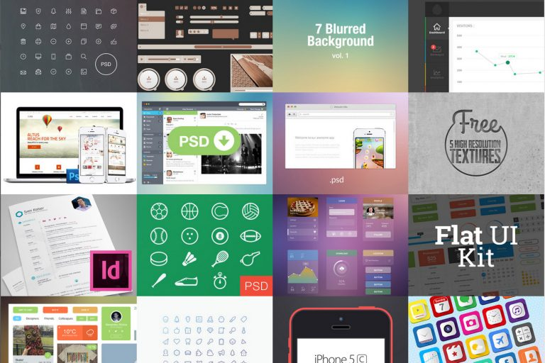 DBFreebies – best freebies design resources from Dribbble and Behance