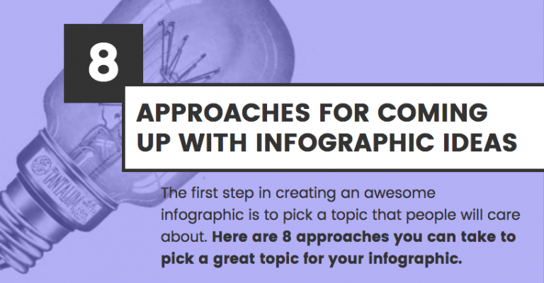 An example of an infographic header with a very simple photo added in the background