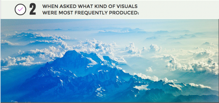 Infographics sections with an image of clouds as a background