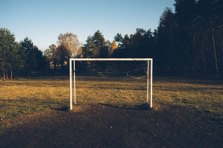 Old football goals