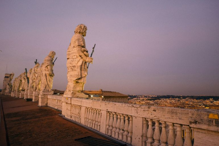 On the roof of Basilica di San Pietro