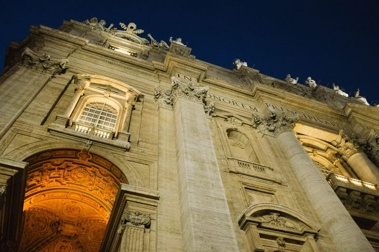 Basilica di San Pietro at night