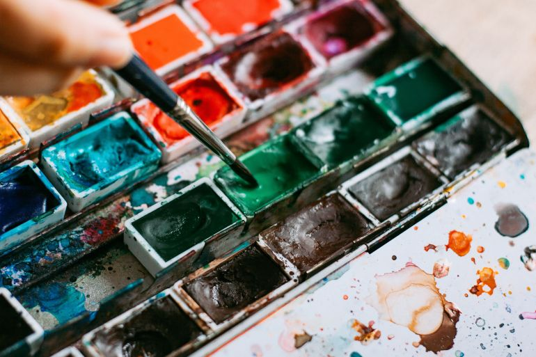 Painting in water-colours