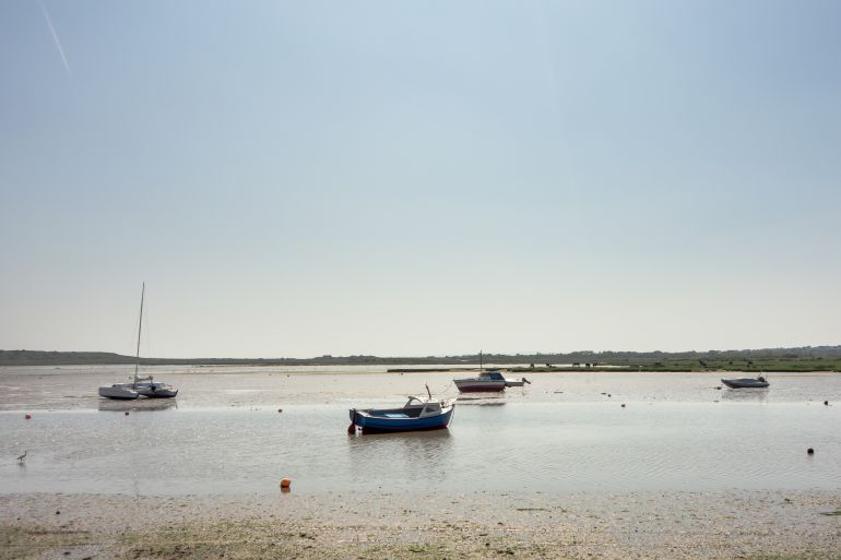 Boats in Christchurch Harbour