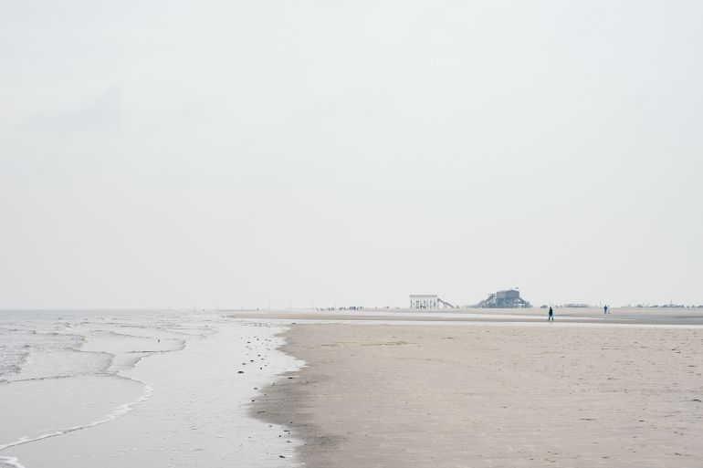 The North Sea in ST. PETER-ORDING, GERMANY