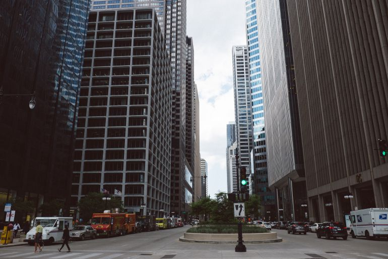 Street in downtown Chicago