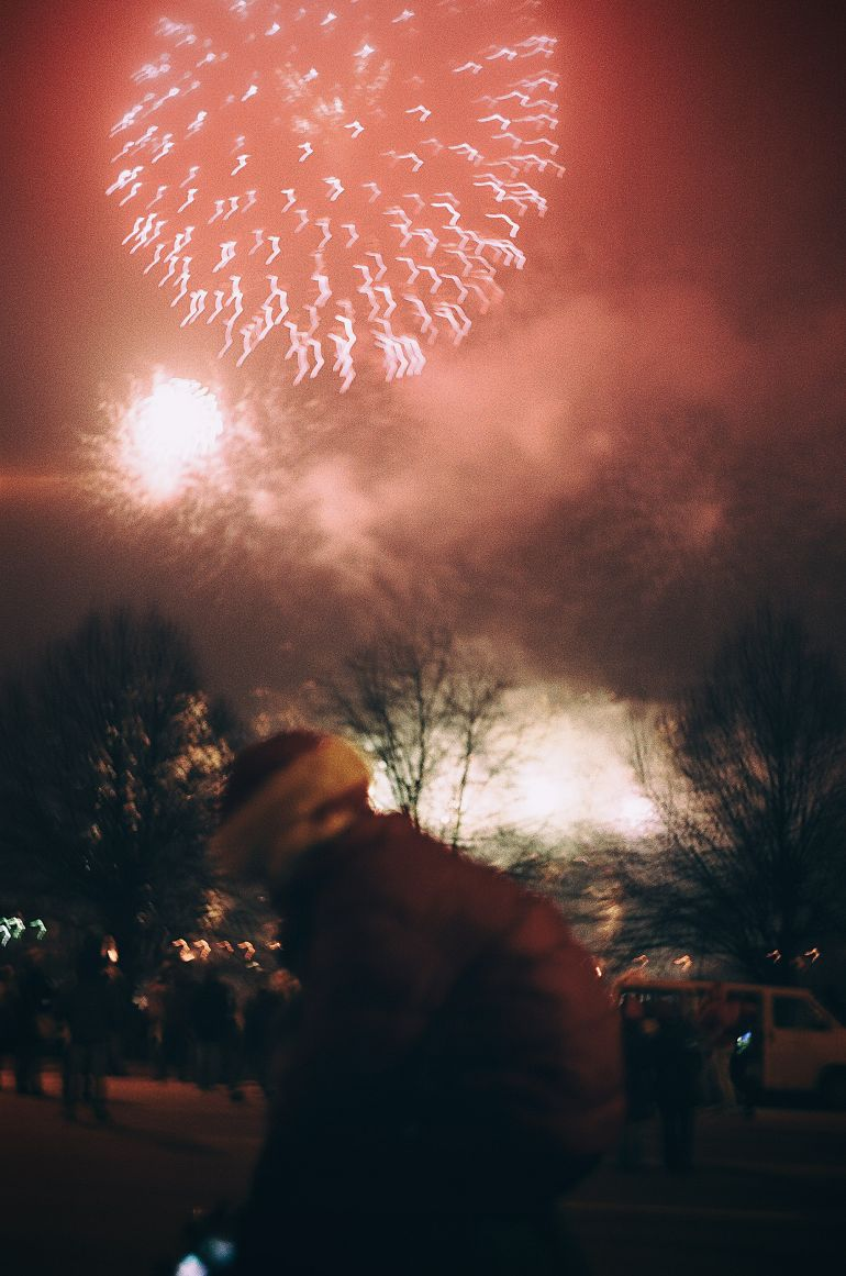 Child and the fireworks