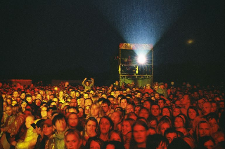 Crowd at the concert