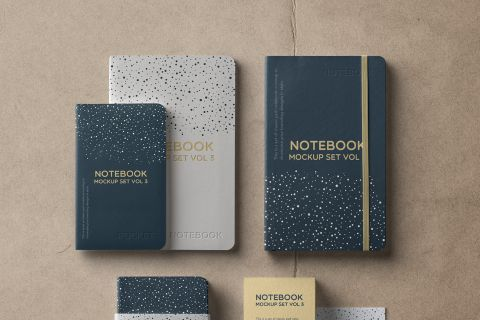 Notebook Set – Free PSD Mockup