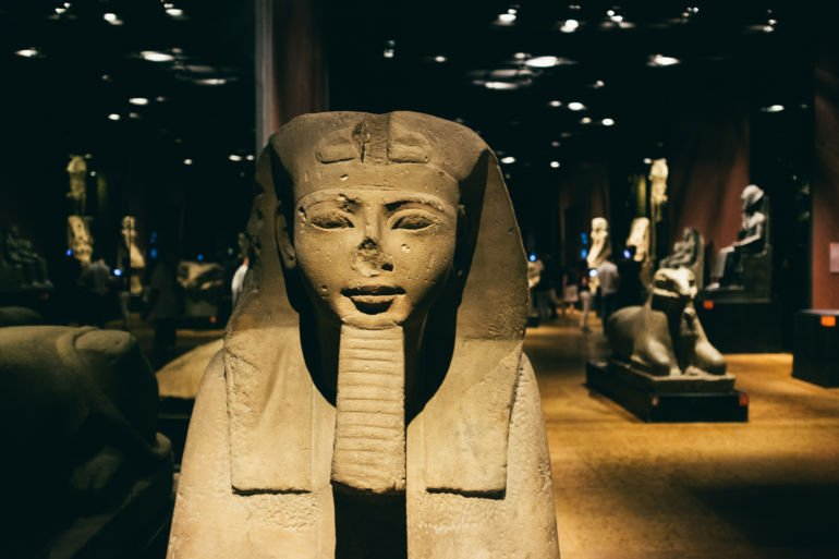 Sphinx in the Egyptian Museum