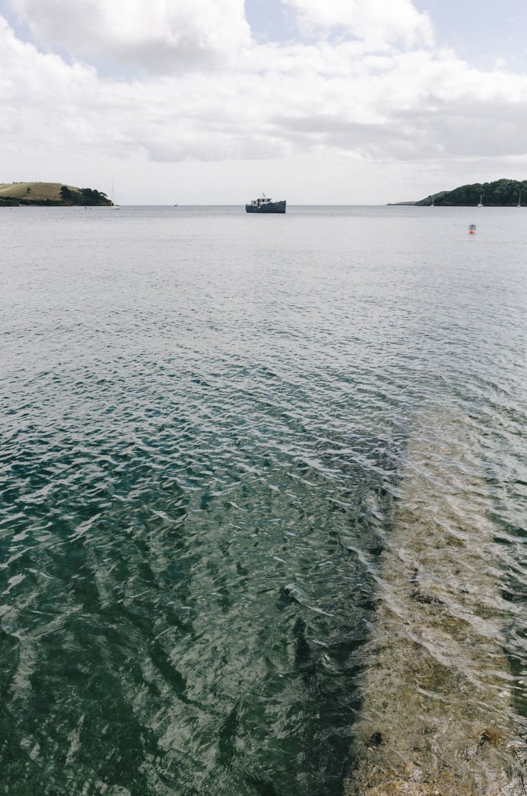 Boat in Helford River, UK