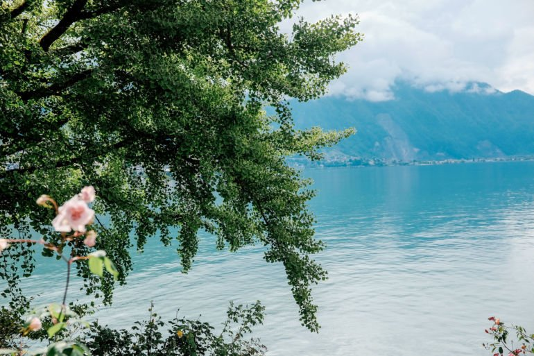 View on lake Geneva in Montreux