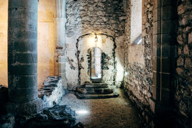 Dungeon of Chillon Castle in Montreux