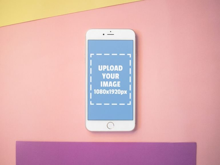 Free iPhone Mockup with Placeholder