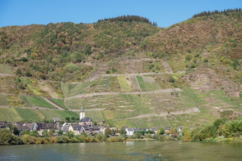 Wine village of Bremm in the Moselle, Germany