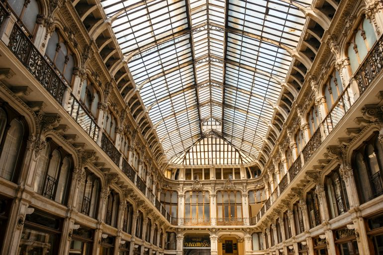 Shopping gallery in Turin, Italy