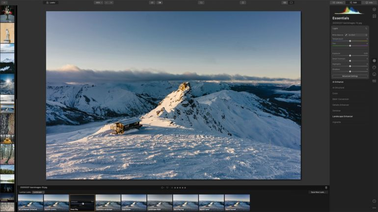 luminar 2 edit view