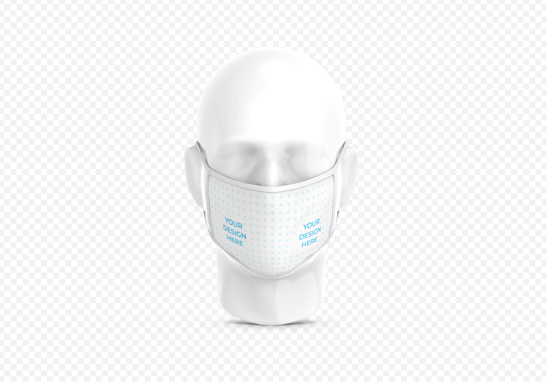 Cloth Face Mask on Plastic Head [Free Mockup Generator]