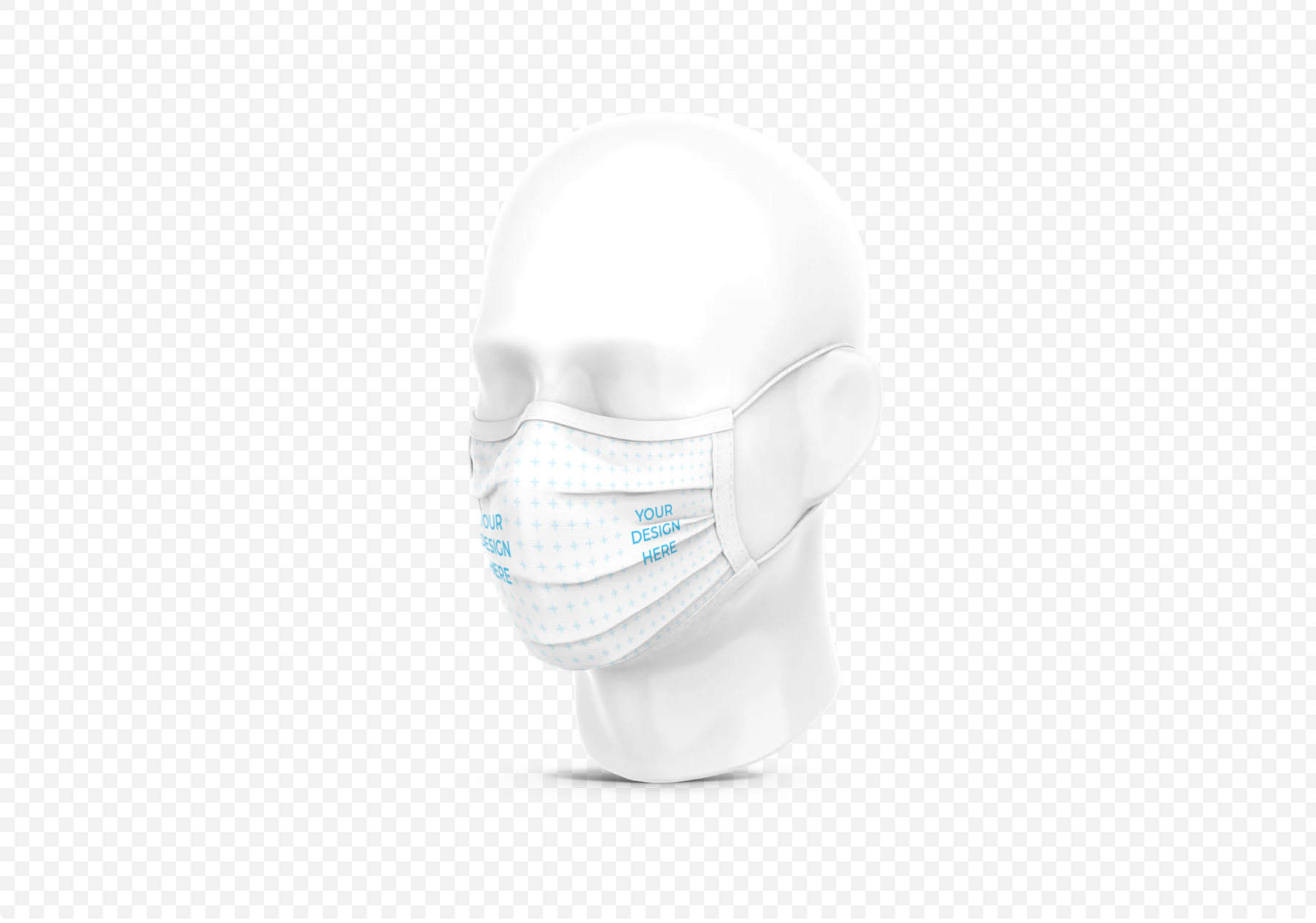 Isolated Face Mask on a Plastic Head [Free Mockup Generator]